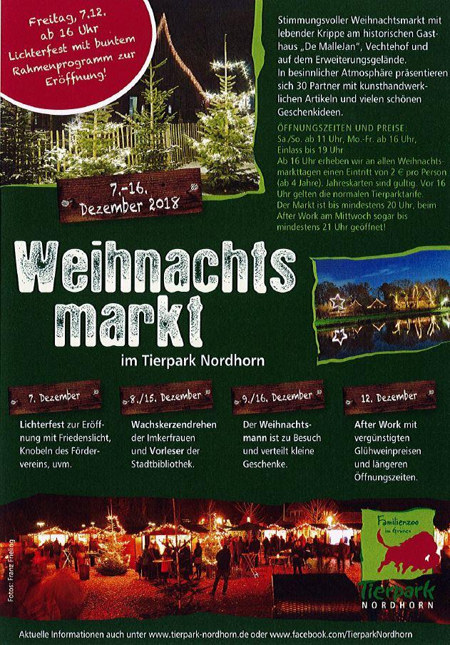 öffnungszeiten Weihnachtsmarkt.Weihnachtsmarkt Tierpark Nordhorn